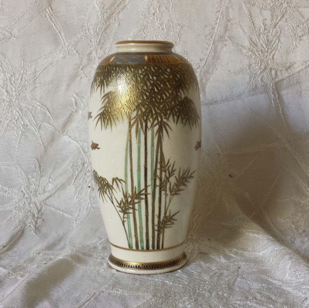 Antique petite japanese satsuma vase bamboo bird design signed 5 antique petite japanese satsuma vase bamboo bird design signed 5 reviewsmspy