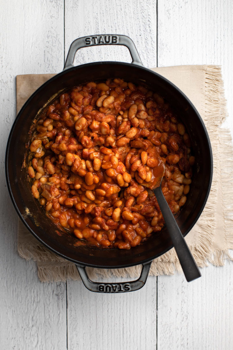 Maple Bacon Baked Beans Recipe The Frayed Apron Recipe Maple Recipes Side Dishes Easy Maple Baked Beans