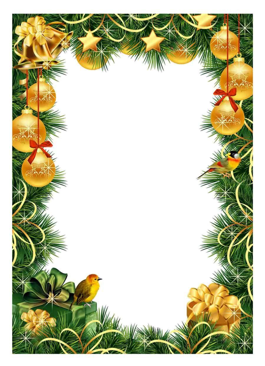 40+ Free Christmas Borders And Frames Printable