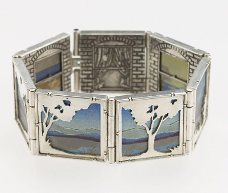 Art Jewelry Finalist—Silver Noël Yovovich  Evanston, Illinois