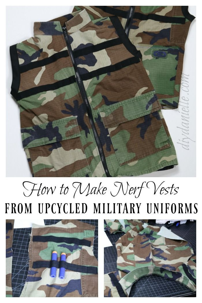 DIY Nerf Vest from Upcycled Camo | Pinterest
