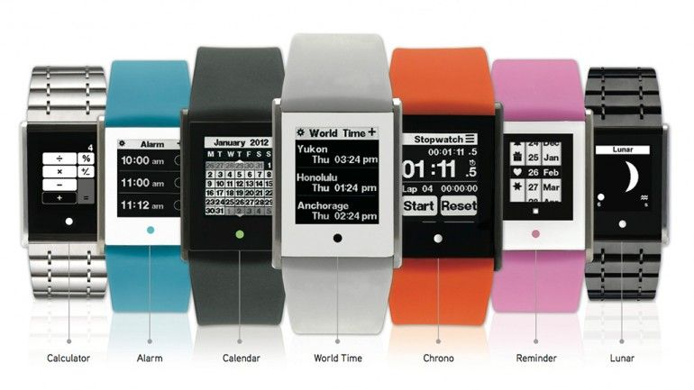 Phosphor's swipe-friendly Touch Time watch.