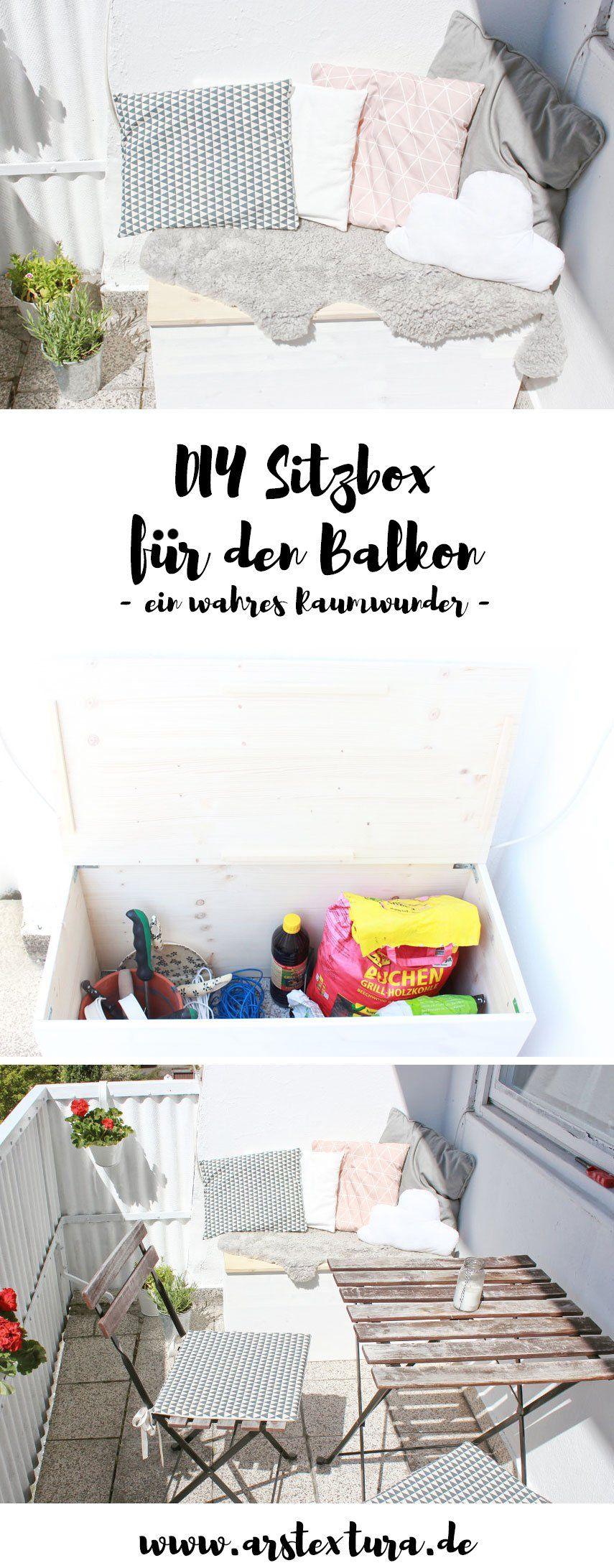 Ordnung für den Balkon... meine DIY Sitzbox | ars textura – DIY-Blog