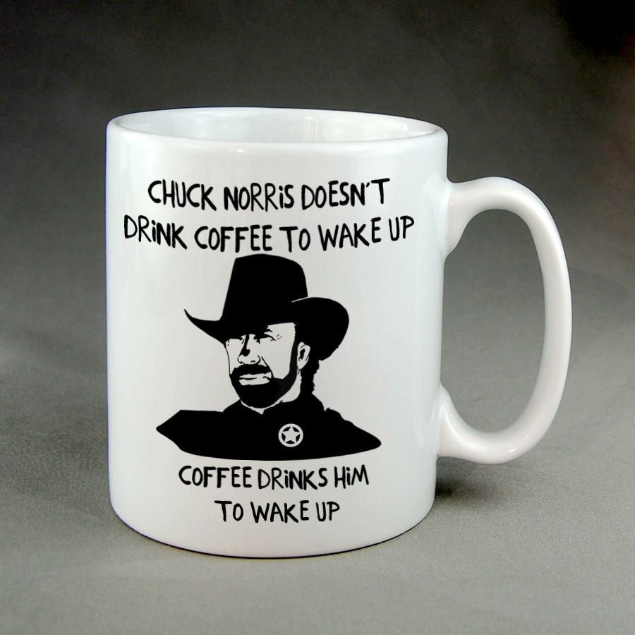 Chuck norris funny coffee mug mugs 15 oz ounce