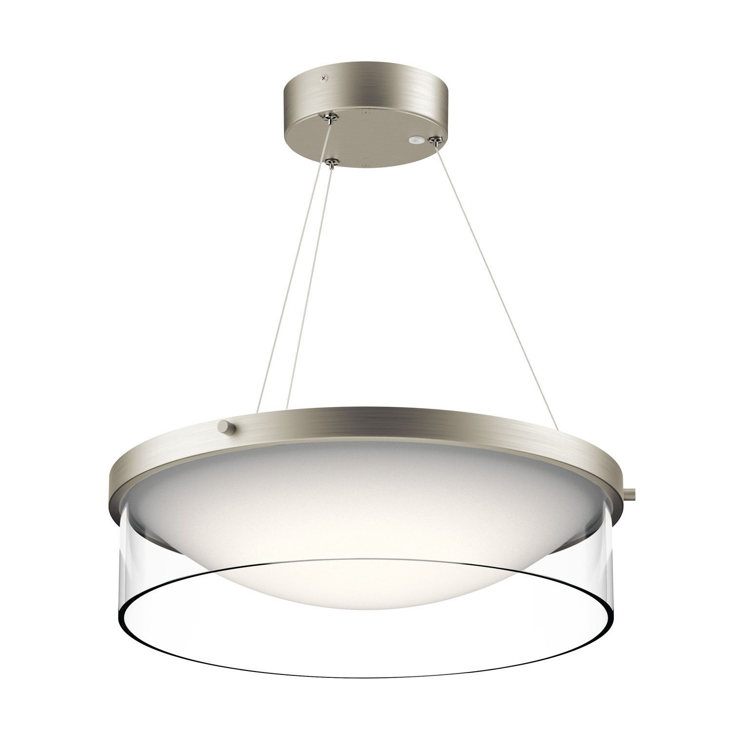 0-032976>Tarla 1-Light Pendant Brushed Nickel
