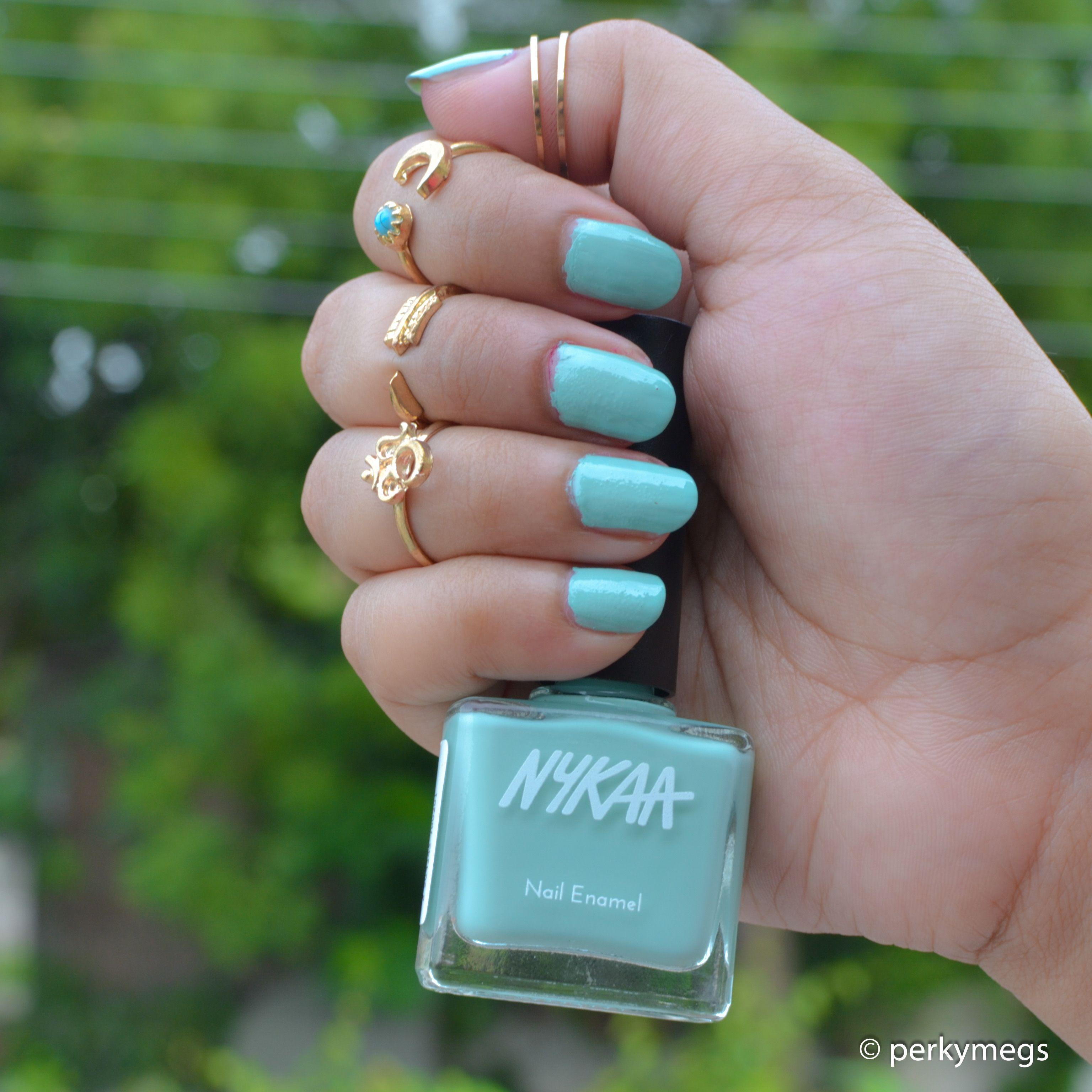 Nykaa Nailpaint Mint Meringue perfect pastel nailpolish for Indian ...