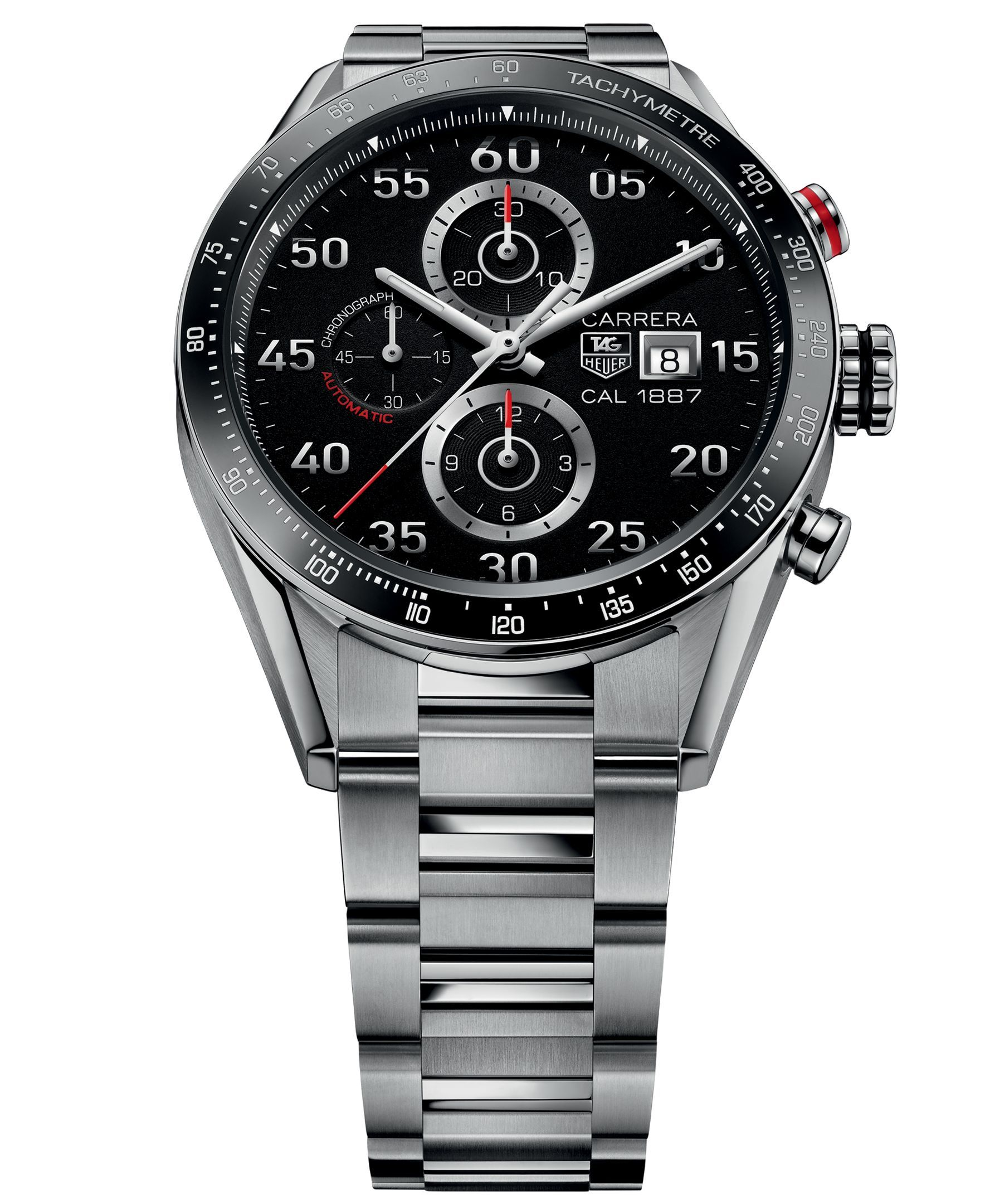 fbcb58ca56f97 Tag Heuer Men s Swiss Automatic Chronograph Carrera 1887 Stainless Steel  Bracelet Watch 43mm CAR2A10.BA0799