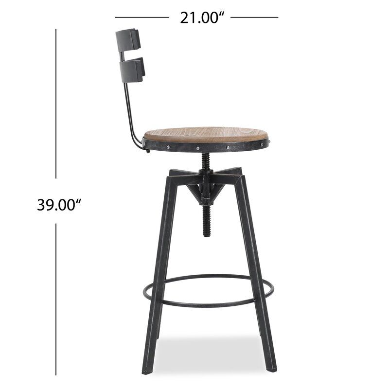 Sylvania Swivel Adjustable Height Bar Stool In 2020 Elegant Bar Stools Bar Stools Stool