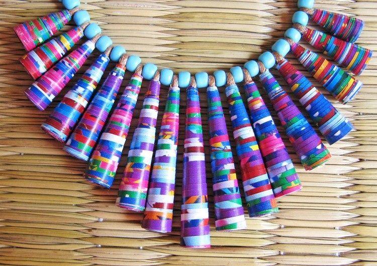 креативные бусы | Бисерные украшения, Бумажные шарики ...