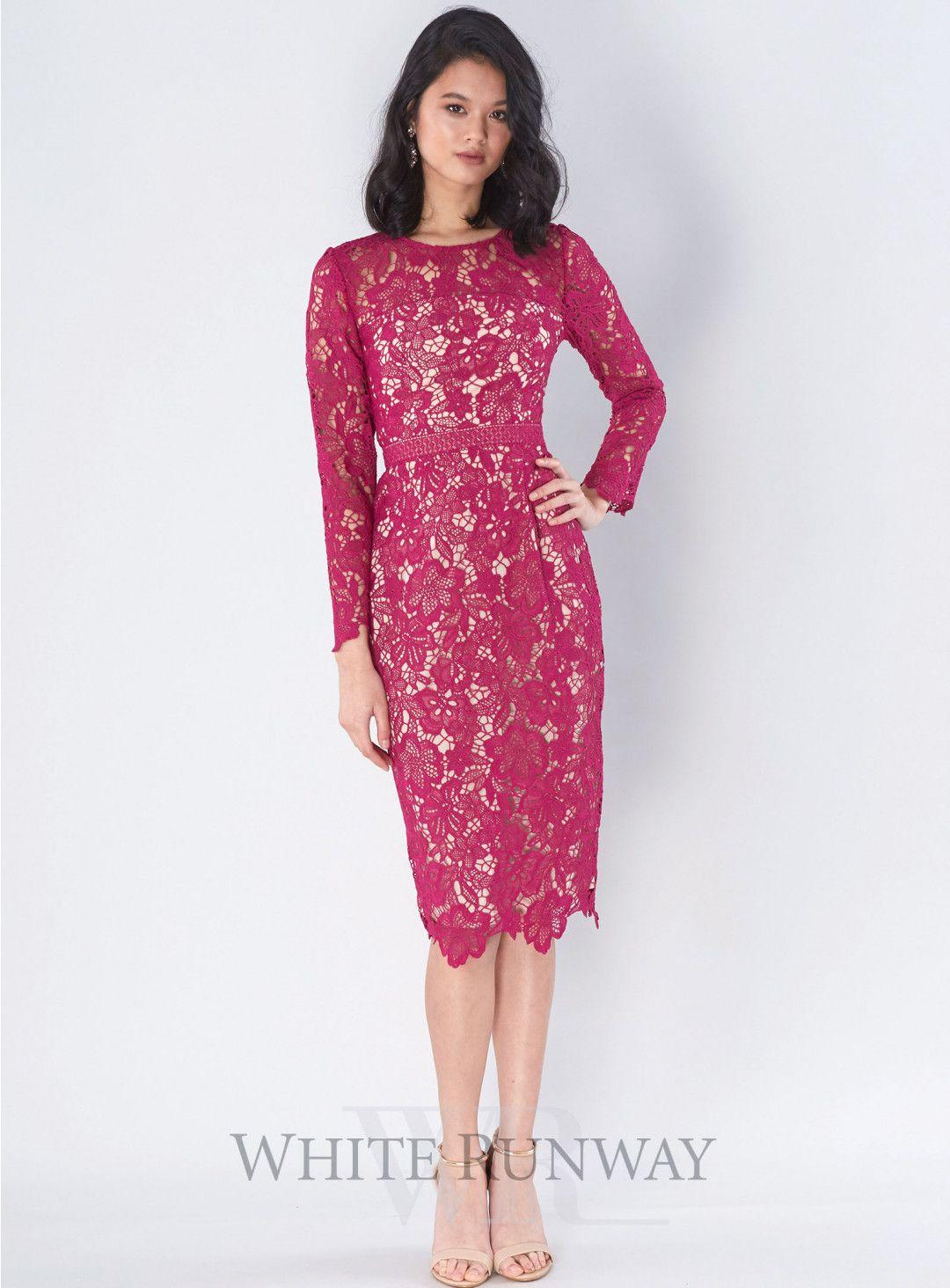 Lila Long Sleeve Dress. A gorgeous midi length dress by Romance ...