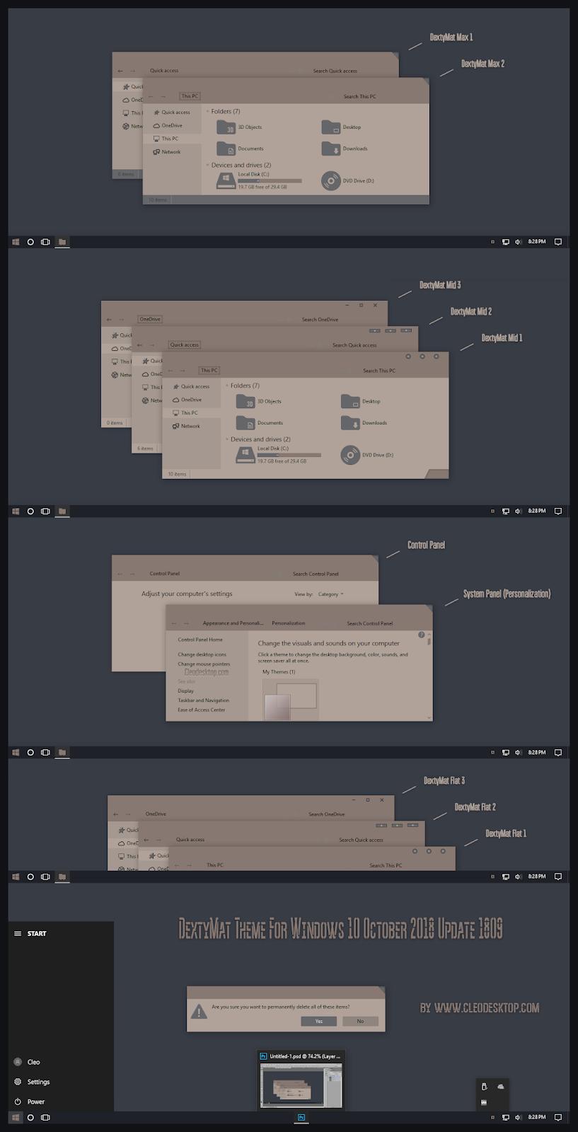 windows10 themes i cleodesktop dextymat theme windows 10 october