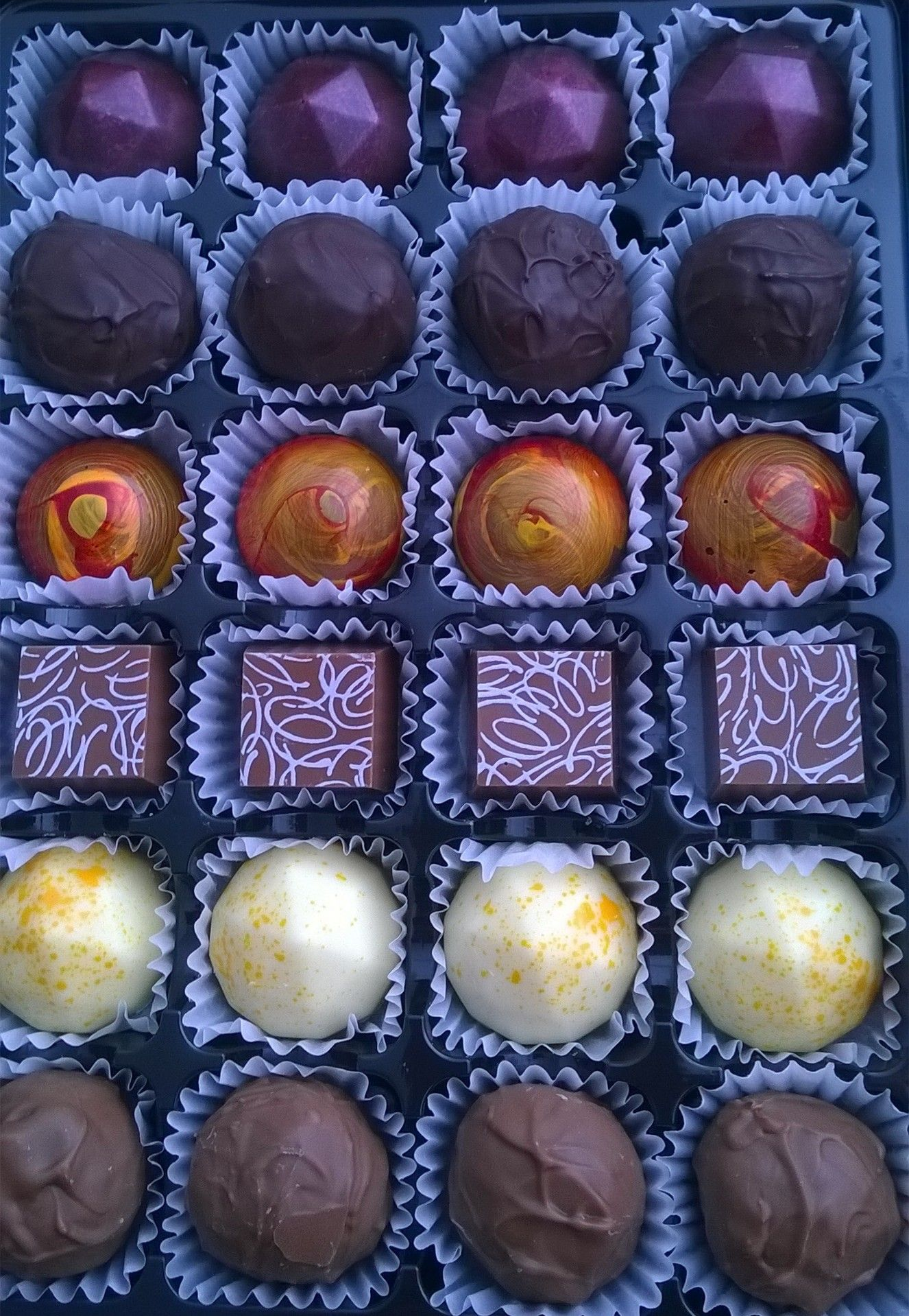 Selection of handmade chocolates - available on the North Coast 500