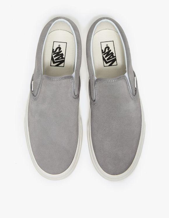 Vans, Grey slip on vans, Vans classic