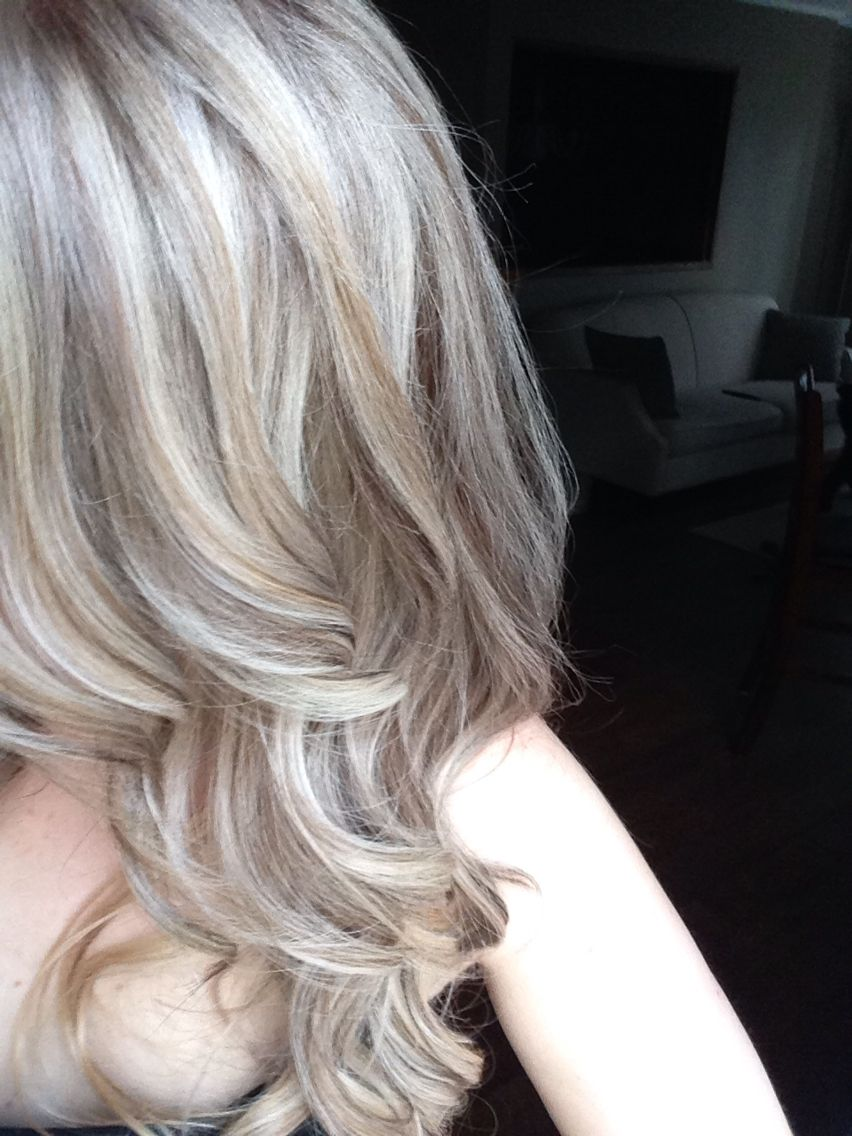Medium Ash Blonde With Platinum Baby Highlights Hair
