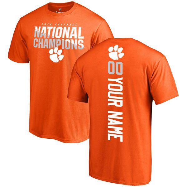 e577f56f80f32 Clemson Tigers Fanatics Branded College Football Playoff 2016 National  Champions Personalized Backer T-Shirt - Orange