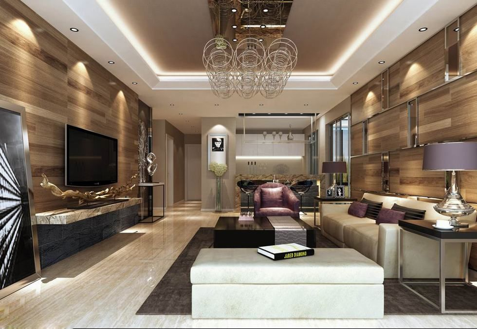 Fashionable Modern Living Room Design 2015