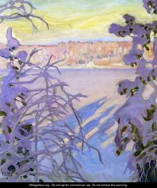 A Winter Landscape - Akseli Valdemar Gallen-Kallela