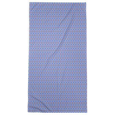 East Urban Home Katelyn Elizabeth Full Colour Geometric Diamonds Beach Towel Microfiber Colour Blue Orange In 2020 Bath Towels Colors Geometric Diamond