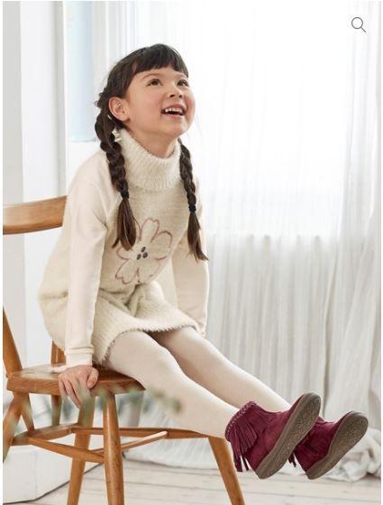 3b5a7c8a19e78 Robe molleton et maille col roulé Vertbaudet - mode enfant - mode fille - collection  automne
