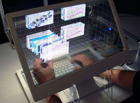 See Through 3d Desktop What If You Reached Behind The Screen To Interact With Objects Future Tech Future Technology Cool Technology