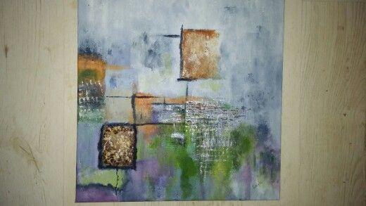 Abstractsschilderij gemaakt