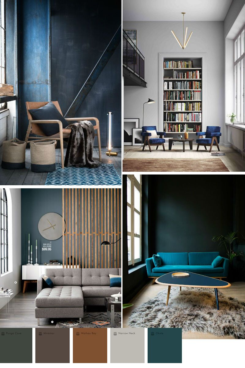 Blue color trend in home decor 2016 2017 interior home - Trending paint colors for living rooms 2016 ...
