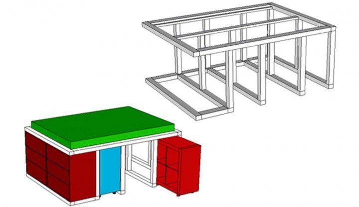 IKEA-Hack Aus dem Kallax Regal und der Malm Kommode wird ein Bett