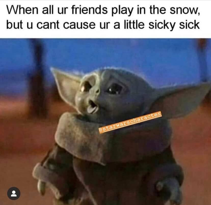 Pin By Mckenzie Farris Hardin On My Funnies Star Wars Memes Yoda Meme Funny Relatable Memes