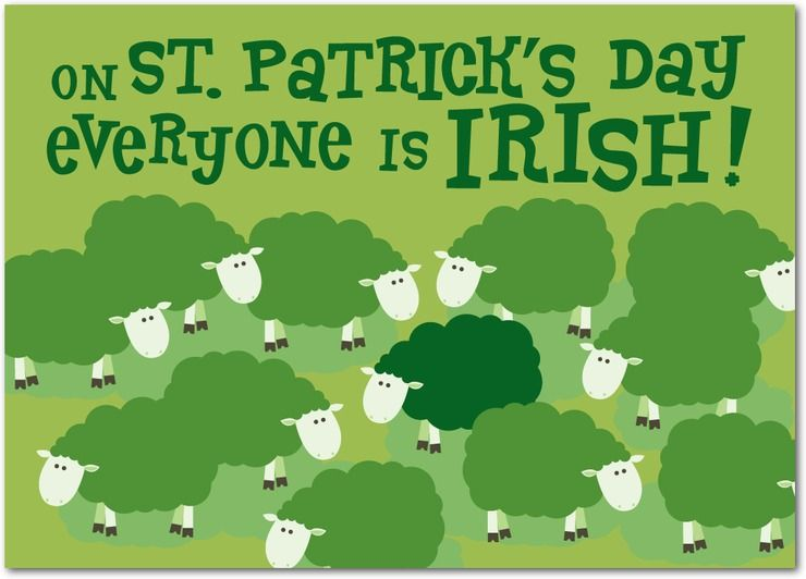Happy st patricks day saints everyone is irish st patricks day greeting card m4hsunfo