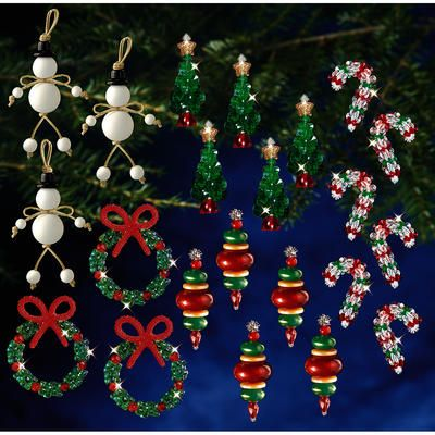Holiday Beaded Ornament Kit Collection New Traditional Makes 100 Holiday Beading Christmas Bead Beaded Christmas Ornaments