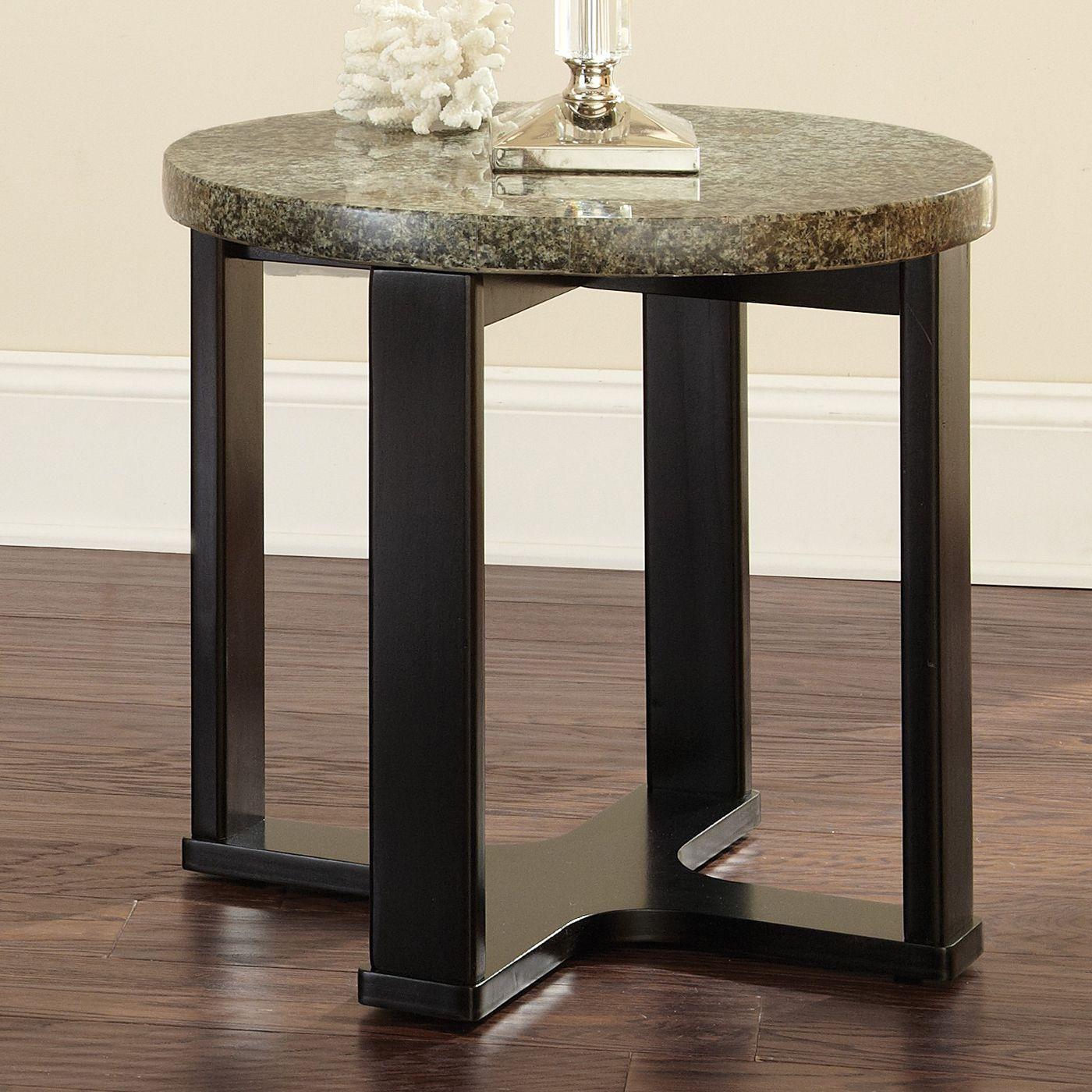 Steve Silver Company GB200E Gabriel Granite Top End Table Home
