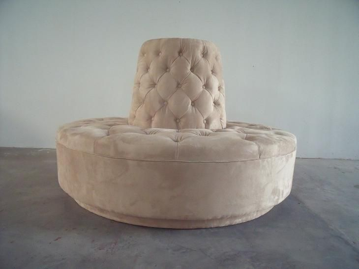 Round Settee For Entryway Circle Sofa