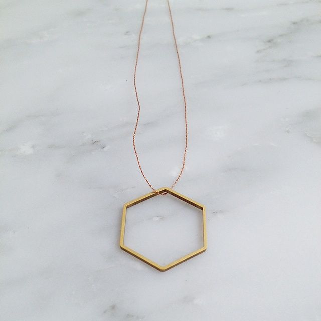 brass honey pendant | ORPHAN SOCKS | | ORPHAN SOCKS | because you are unique