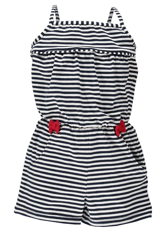 c816c5a7f577c Navy And Ecru Jersey Striped Jumpsuit by Mitty James Kids Beachwear ...