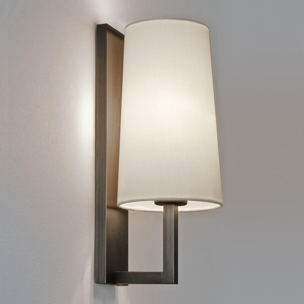 Astro Lighting 0940 San Marino Solo Wall Light In Bronze: Astro Lights Riva 350 IP44 Bathroom Wall Light In Bronze