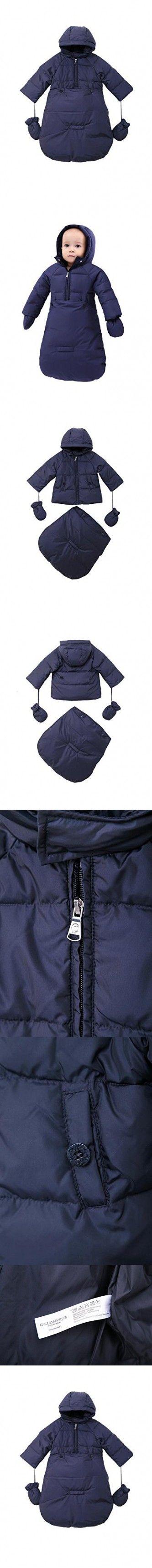9c6c0a7b9 Oceankids Baby Boys Navy Blue Newborn Pram Down Bunting Snowsuit ...