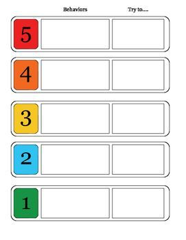Image Result For 5 Point Scale Printable 5 Point Scale Challenging Behaviors Social Emotional Learning
