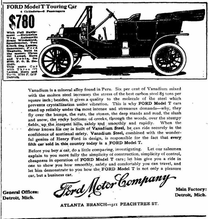 Model T Best Outdoor Lighting Car Ads Ford