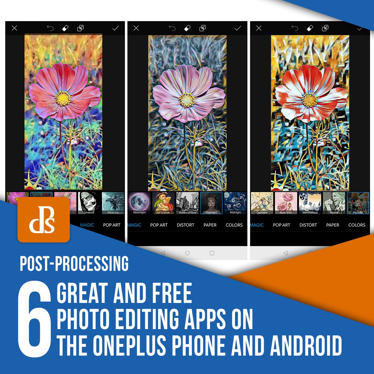 6 Great and Free Photo Editing Apps on the OnePlus Phone