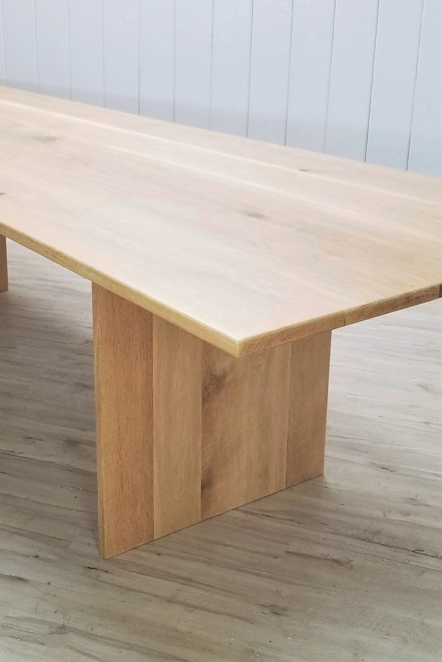 Custom Solid White Oak Dining Table Seamless Planks Natural Etsy In 2020 Oak Dining Table White Oak Dining Table White Oak Table