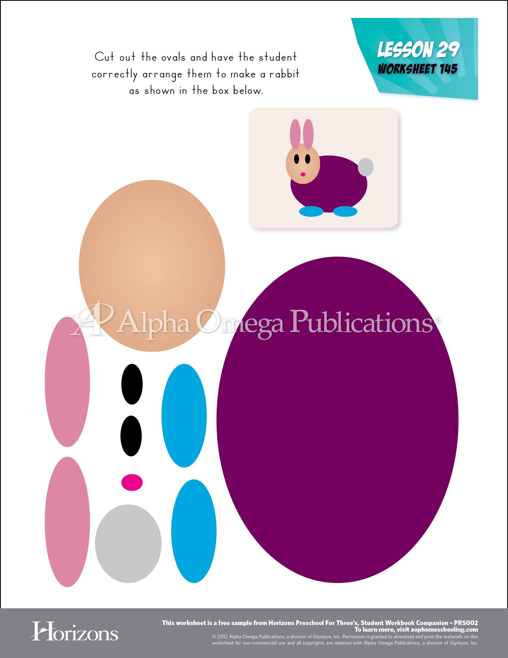 Horizons Preschool For Three S Sample Worksheet Curriculum