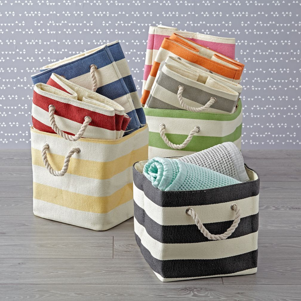 Shop Striped Cube Storage Bins. Clutter Around The House? Try Our Stripes  Around The