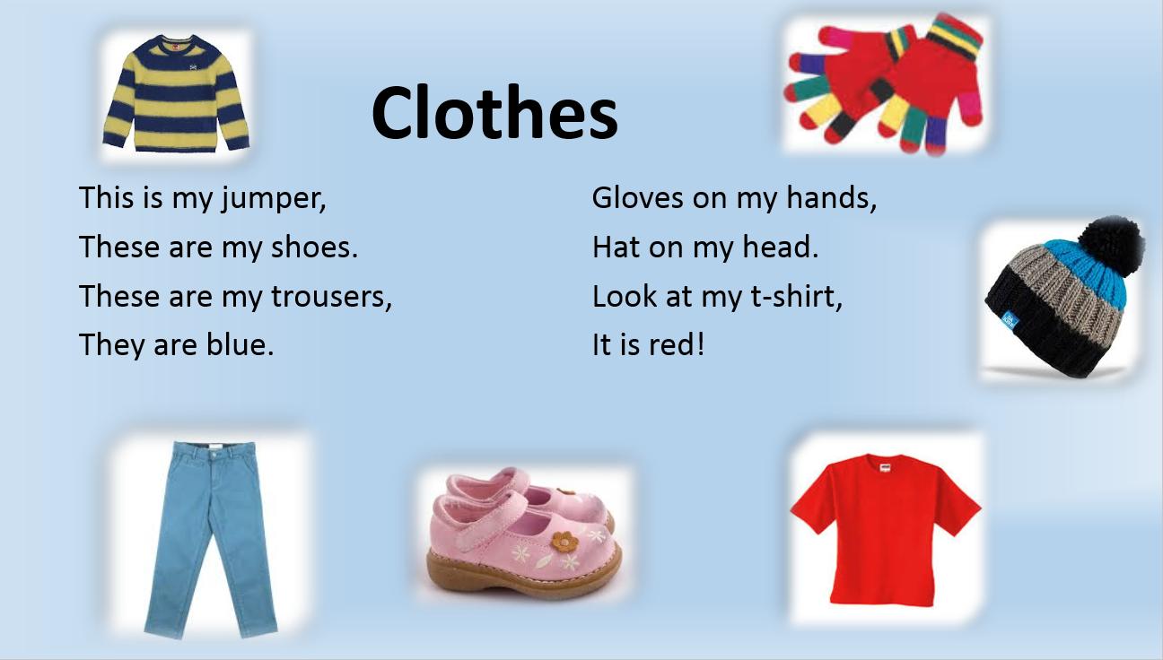 ESLaloud: Clothes Poem 1 | Poems, Simple poems, Fun facts