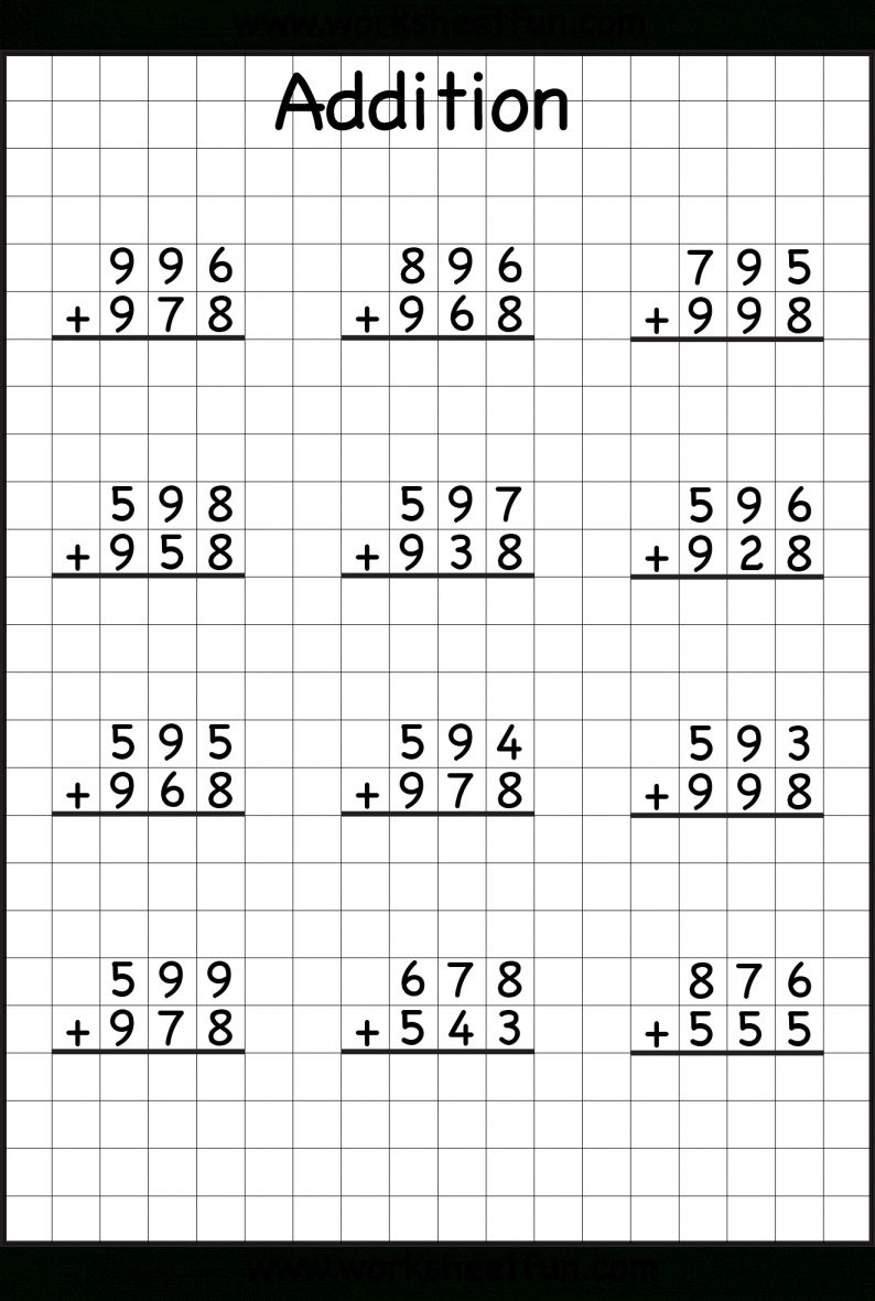 7+ Addition And Subtraction With Regrouping Worksheets 3Rd Grade   Addition  with regrouping worksheets [ 1180 x 794 Pixel ]