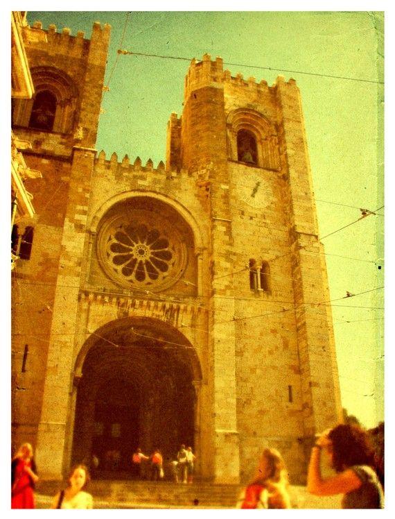 Lisbon Portugal  Se Cathedral  8x10 Original Fine by urbanantique, $17.00