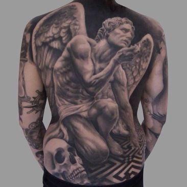 Piekny Tatuaż Na Plecy Tattoo Tatuaże Męskie Tatuaże Na