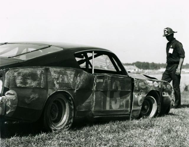 Bobby Unser S Smokey Yunick Ford After A Crash In The 1969 Daytona