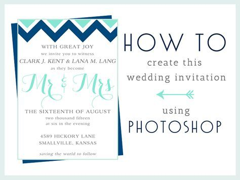 HowTo Make This Wedding Invitation In Photoshop Paper Source - How to make a birthday invitation in photoshop elements