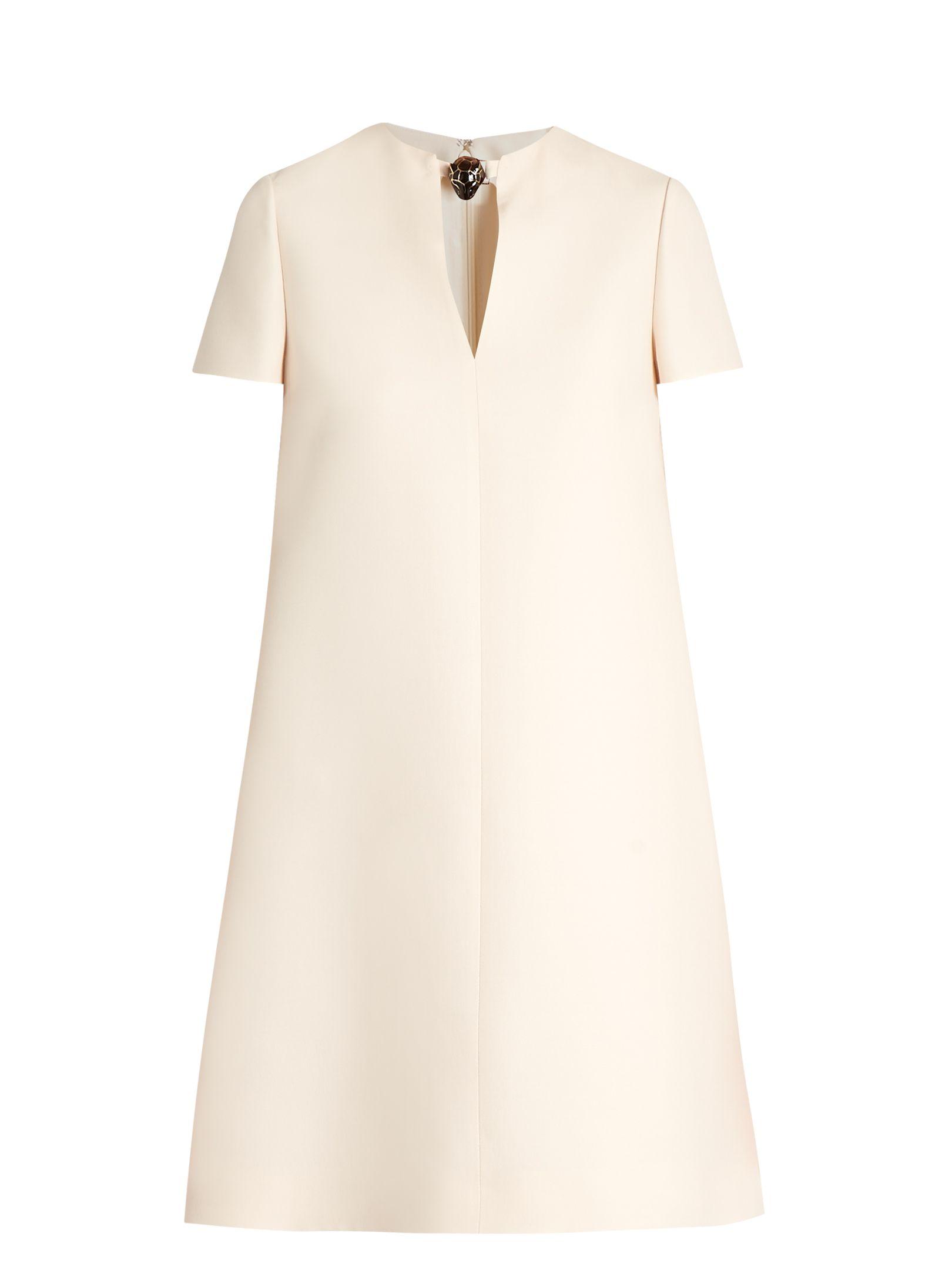 Valentino Woman Paneled Pleated Silk Crepe De Chine Mini Dress Antique Rose Size 44 Valentino 0d0QLa