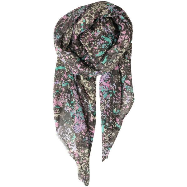 Becksondergaard Q-Fane Cotton Scarf - Retro Pink ($54) ❤ liked on Polyvore featuring accessories, scarves, retro pink, colorful shawl, retro scarves, colorful scarves, cotton shawl and camo scarves